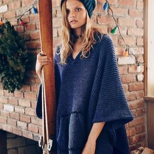 Free People Brookside Hooded Poncho